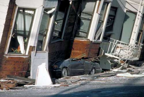 Damage in the Marina District, San Francisco