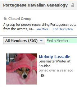 Portuguese Hawaiian Group on Facebook Hits 500 Member Mark