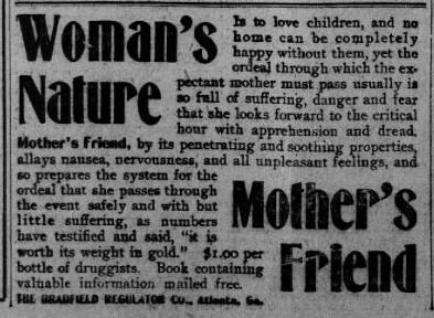 That's Old News:  What the heck was Mother's Friend?