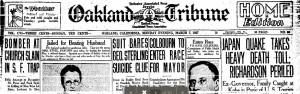 Oakland Tribune 7 Mar 1927 Headlines